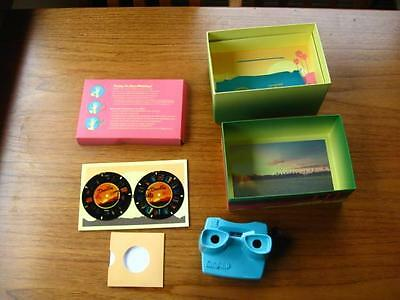 2016 Desert Trip Festival box Blue 3D Viewmaster with 2 discs Welcome Guide book