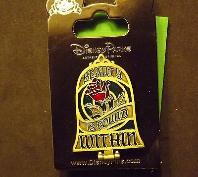 Disney Beauty and The Beast Stained Glass Rose Pin