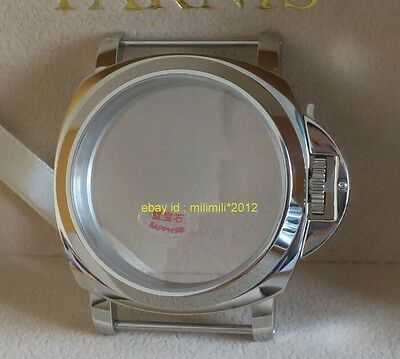 44MM polishing 316 stainless steel sapphire watch case Apply to ETA 6497 6498