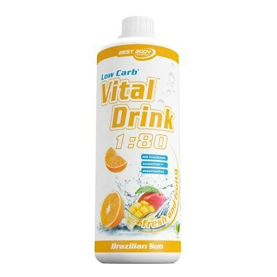 Best Body Low Carb Vital Mineral Drink 1L Brazilian Sun + Dosierpumpe