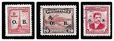 No 251A - 3 X Philippines Stamps -  Official Business Overprint -  Used
