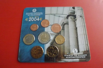 *Griechenland Euro KMS 2004 * 1 Cent - 2 Euro in Blister