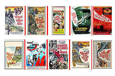 Voyage To The Bottom Of The Sea - Movie Poster Postcards Set 1
