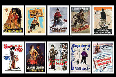 Charlie Chaplin - The Gold Rush - Movie Poster Postcards Set