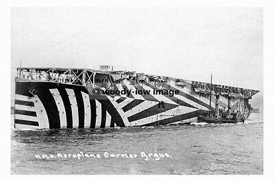 rp6378 - Royal Navy Aircraft Carrier - HMS Argus with Dazzle Paint - photo 6x4