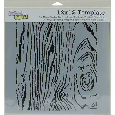 """Crafter's Workshop Template 12""""X12""""-Woodgrain"""
