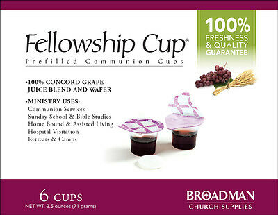 Fellowship Cup Prefilled Communion Cups, Box of 6