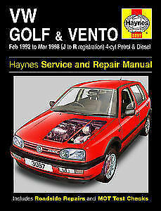VW Golf & Vento 92to98 Petrol Diesel  Haynes 3097 Service and Repair Manual New