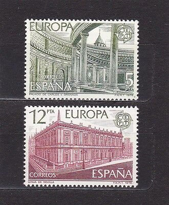 Spain #2101-2102 Mnh Europa Cept 1978 (Early Architecture)