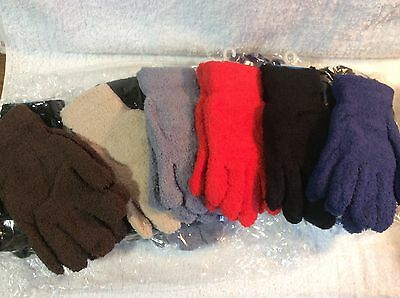 12 Pair Kids Gloves Stretch Warm Soft Wholesale Lot New Fits S to XL Youth Teen