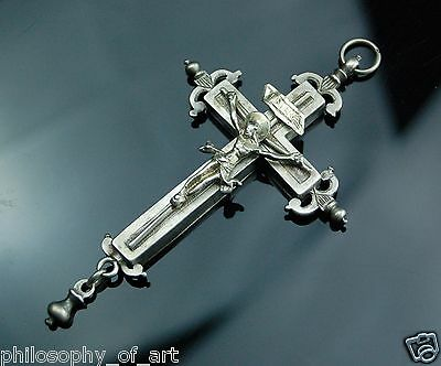 Rare Renaissance Silver Reliquary Crucifix Pendant 16th/ Early 17th Century