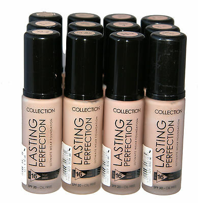 12 x Collection Lasting Perfection Foundation | Natural Beige | RRP £72