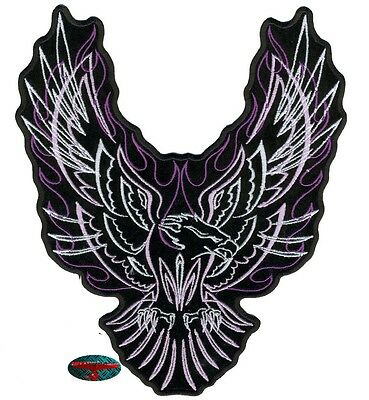PINSTRIPE UPWING EAGLE Biker Patch grande Parche Para planchar Backpatch Harley