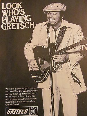 Roy Clark, Gretsch Guitars, Full Page Vintage Promotional Ad
