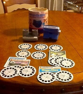 1960-70's Two Gaf Viewmasters Lighted #2062 Standard #2014 + Reels.