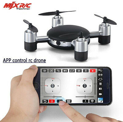 MJX X916H 720P CAM 6 Axes 4CH WiFi Control RC Quadcopter Pression d'air Noir
