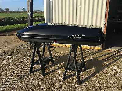 Halfords-Exodus 360 Black Gloss Roof Box (Made By Thule)