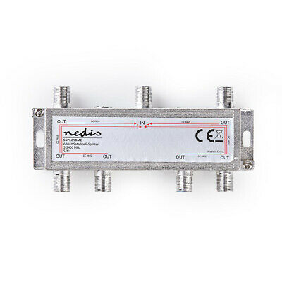 Satellite CATV F Universal Splitter17 dB / 5-2400 MHz 1 in 6 Outputs