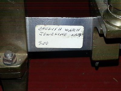 Antique and Rare Watch Maker Machines / Jeweler's Lathe Brass Triangle Bed OLD!