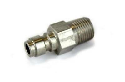 Stainless Steel Paintball Air Tank Foster Fill Nipple With One Way Valve [OS8-2]