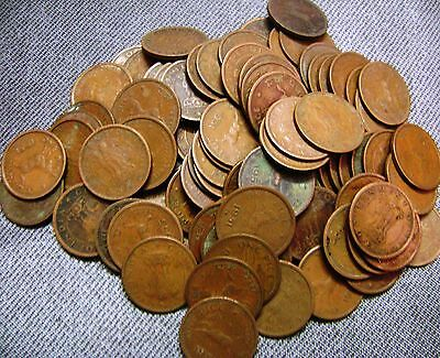 REPUBLIC INDIA - ONE PICE - HORSE COIN - 50 COINS LOT - 1950 to 1954