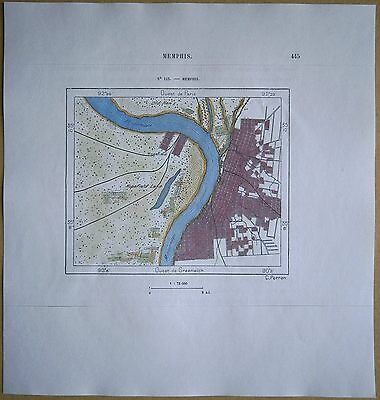 1892 Perron map MEMPHIS, TENNESSEE (#113)