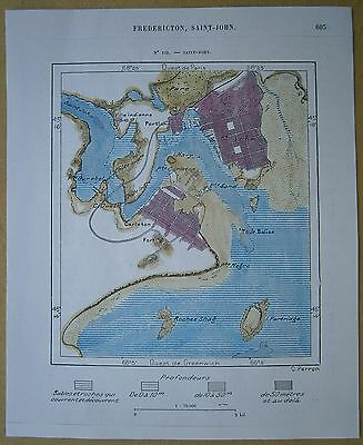 1890 Perron map SAINT JOHN, NEW BRUNSWICK, CANADA (#142)