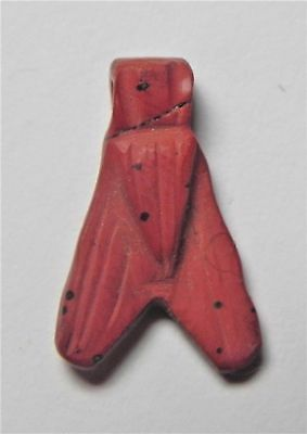Zurqieh -Af1559- Ancient Egypt, New Kingdom. Red Jasper Fly Amulet. 1400 B.c