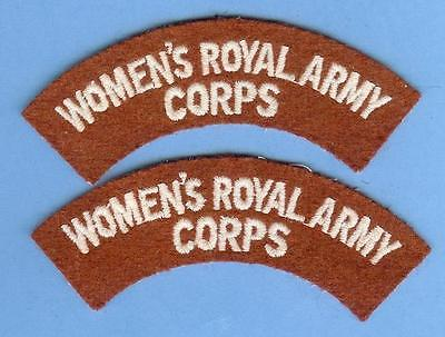 British Army Shoulder Title Patch Pair--WOMEN'S ROYAL ARMY CORPS