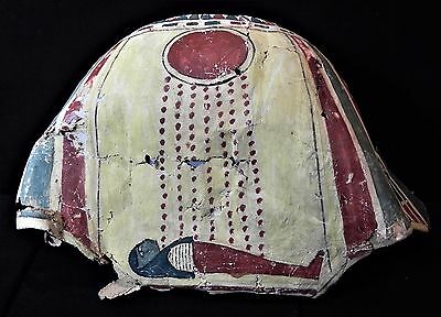 Zurqieh - Ancient Egyptian Mummy Backside Of A Crown. Gesso On Linen
