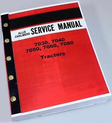 Allis Chalmers 7020 7080 Tractor Service Repair Technical Shop Manual Overhaul