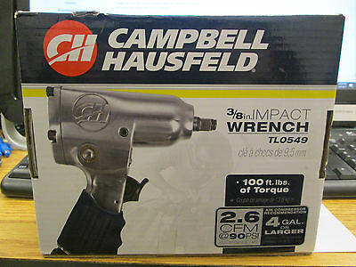 Campbell Hausfield 3/8 Inch Impact Wrench  New