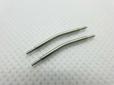 Pair Curved Stainless Steel Watch Strap Spring Bars Pins