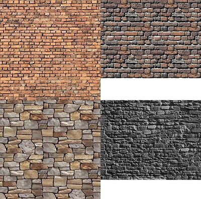 # 12 SHEETS 4 DESIGNS wall O SCALE 1/43  21x29cm EMBOSSED BUMPY code 303iC6XE277