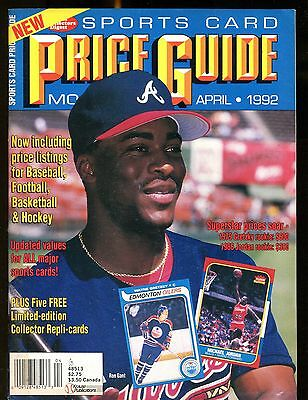 SCD Sports Card Price Guide April 1992 Ron Gant w/Mint Cards jhscd