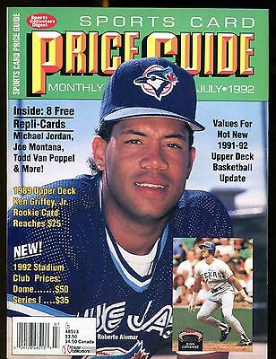 SCD Sports Card Price Guide July 1992 Roberto Alomar w/Mint Cards jhscd