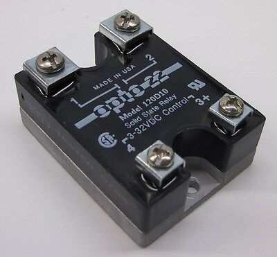 Opto 22 120D10 Solid State Relay (SSR), 120VAC, 10A, DC Control