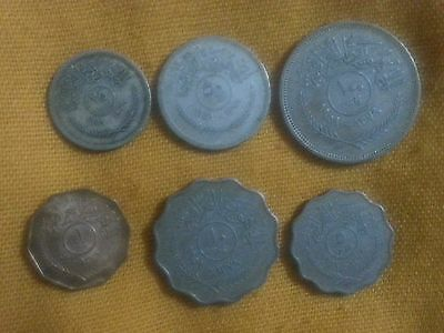 Iraq / set full coins 1959 nice coins 6 pcs