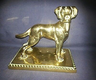 Great Dane Brass Dog