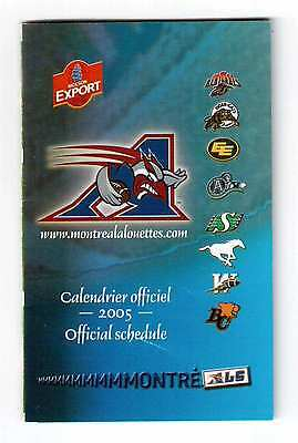 Montreal Alouettes 2005 Official Schedule !!