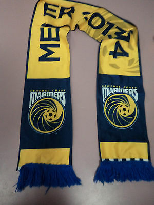 #ss2. Central Cosast Mariners  Football Soccer Supporter Scarf Member 2013/14