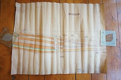 1970 Richmond Railway Track Plan Drawing Diagrams 59cm x 45cm