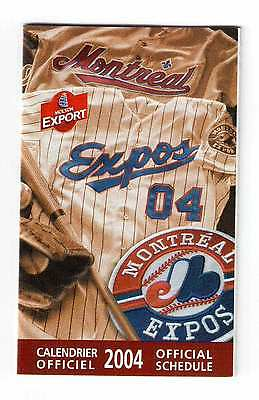 Montreal Expos 2004 Official Schedule !!