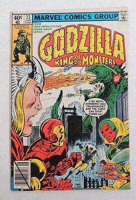 B429 GODZILLA King of the Monsters #23 The Avengers Marvel Comics 4.5 VG+ (1979)