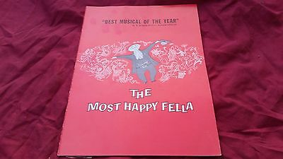 The Most Happy Fella Best Musical of the Year Vintage Program Frank Loesser 1957