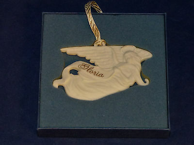 Wedgwood Angel with Banner Christmas Ornament Nativity Series White Jasper