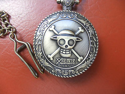 Vintage  Style ** Fob  Watch **pirate-One Piece   With  Chain.