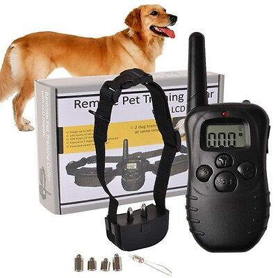 Waterproof Electric Trainer E-Collar Remote Pet Training Collar with LCD Display