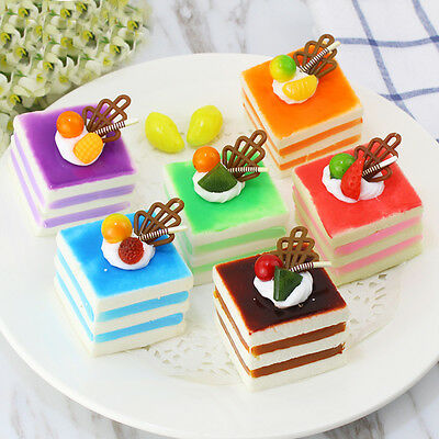 Artificial Simulation Fake Food Household Decor Cream Cherry Cake Donuts Decor