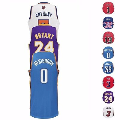NBA Stars Revolution 30 Swingman Team Jersey Collection by Adidas - Men's